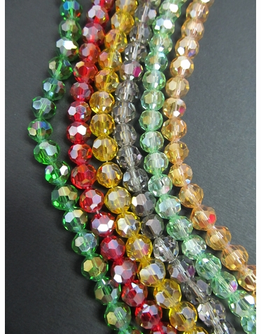 Crystal Bead Bracelet - Various Colors