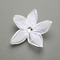 Enchanting Sheer Organza Flower Clip In White Or Ivory