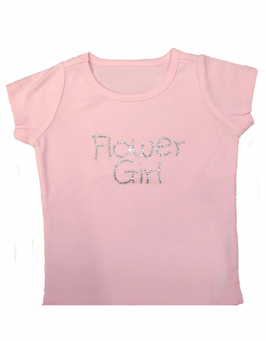Flower Girl Rhinestone Tee in Your Choice of Colors