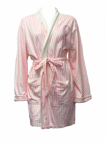 CLEARANCE: Breast Cancer Robe - Pink Ribbon Bath Robe