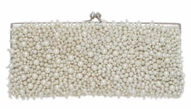 Pearl Evening Bag with Shoulder Chain