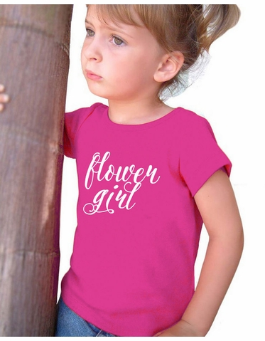 Fanciful Script Flower Girl T-Shirt - Many Colors Available!