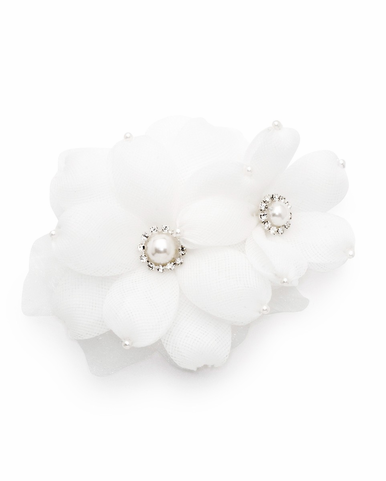 CLEARANCE: Andrea Organza Flowers Brooch And Clip By David Tutera