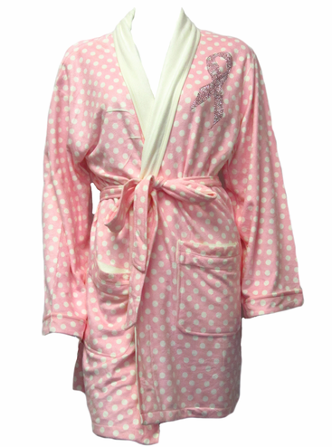 CLEARANCE: Breast Cancer Robe - Pink Ribbon Robe
