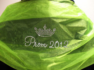 Custom Prom Shawl in Choice of Colors and Wording