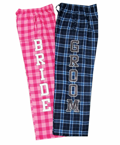 Matching Bride and Groom Pajama Pants