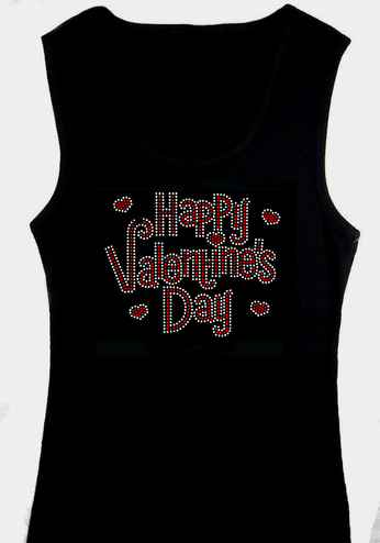 Rhinestone Happy Valentines Day Tank or Shirt
