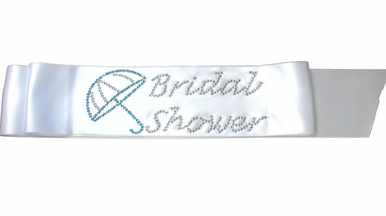 Bridal Shower Sash with Rhinestone Umbrella