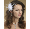 Luscious Feather And Swarovski Crystal Fascinator Comb