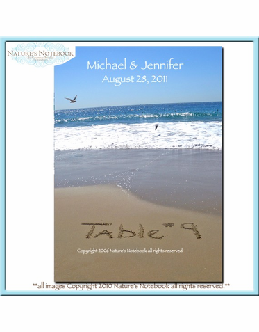 Custom Beach Table Numbers #1-12
