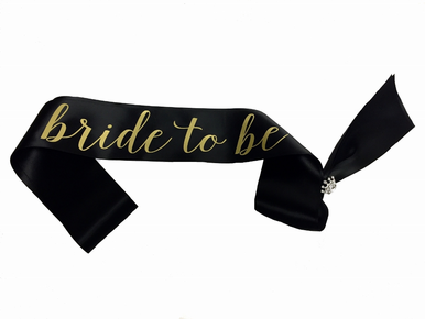 Bride to Be Sash With Optional Pin