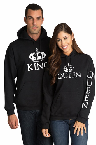 King and Queen Matching Couples Hoodies
