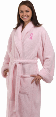 Pink Ribbon Robe - Personalized Breast Cancer Robe