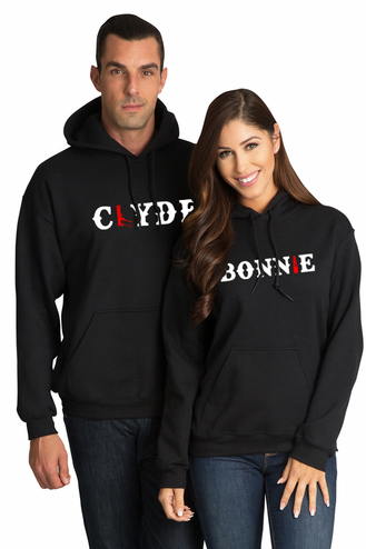 Bonnie and Clyde Matching Couples Hoodies