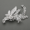 Exquisite Sterling Silver And Crystal Hair Clip