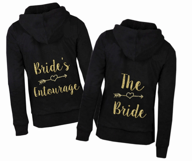 Bridal Party Hoodie with Arrow Design