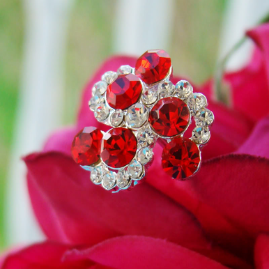 Red Bouquet Jewels for Bridal Bouquet