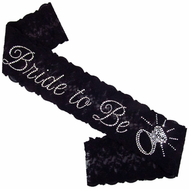 Bride To Be Lace Sash - 3 Lace Colors