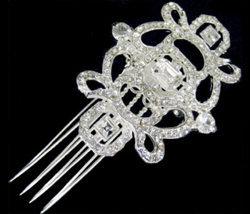 Wedding or Bridal Brooch or Hair Comb-306