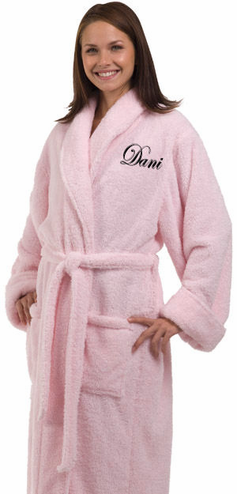 Personalized Chenille Robe with Shawl Collar
