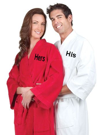 Embroidered Bath Robes for Him or Her