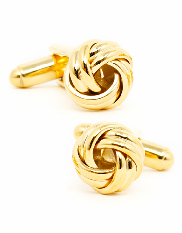 Gold Knot Cufflinks