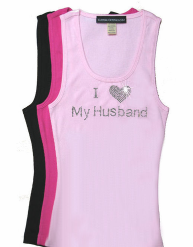 Valentine's Day I (Heart) My Husband Tank or T-Shirt