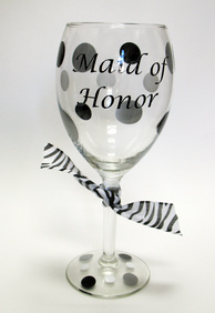 Custom Maid of Honor Glass
