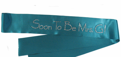 Custom Rhinestone Sash in Choice of Colors and Fonts