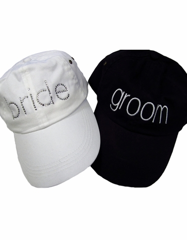 Bride & Groom Hat Set