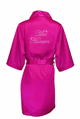 Personalized Mrs. _________ Robe -   Rhinestone Bridal Robe