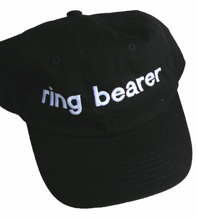 Personalized Ring Bearer Cap - Ring Bearer Hat
