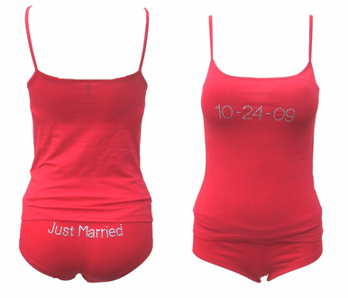 Just Married Camisole and Shortie Set