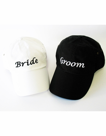 Embroidered Bride Cap or  Embroidered Groom Cap