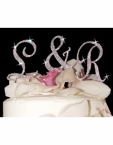 Fully Encrusted Crystal Cake Monogram - Petite Size with Crystals