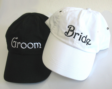 Embroidered Bride Cap or Groom Cap - Bride and Groom Baseball Caps
