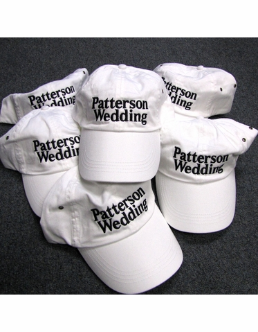 Personalized Wedding Party Baseball Caps
