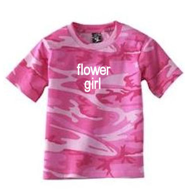 Personalized Camouflage Flower Girl T-Shirt