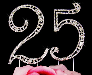 Number Cake Toppers for Anniversary, Birthday, Quinceaneras