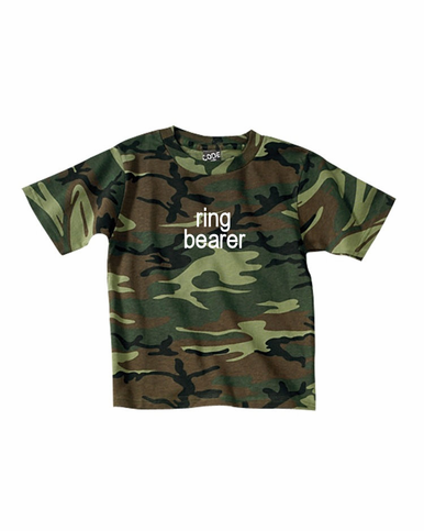 Camouflage Ring Bearer T-Shirt