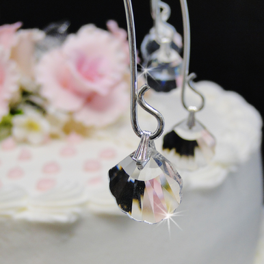 Crystal Sea Shell Cake Drops Cake Topper