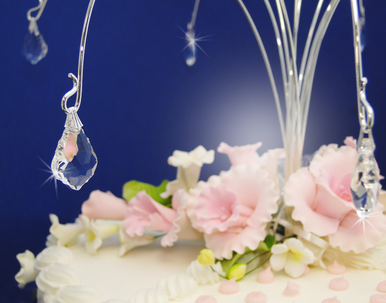 Crystal Baroque Style Cake Drops - Cake Topper