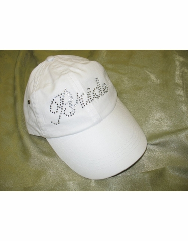 Bride in Crystals Baseball Hat