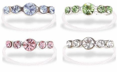 CLEARANCE: Thin Band of Crystals Toe Ring