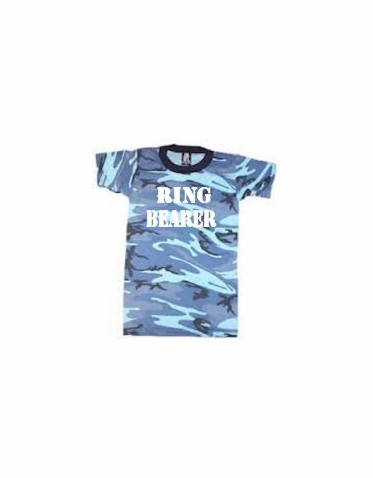 Blue Camouflage Ring Bearer T-Shirt