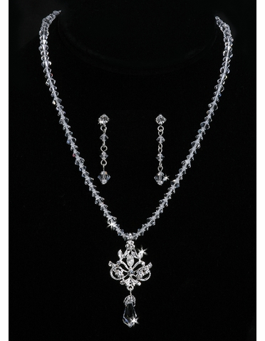 En Vogue Bridal Necklace & Earring Set NL840
