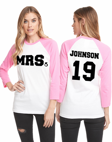 Personalized Mrs. Baseball T-Shirt