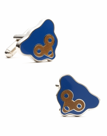 Officially Licensed Retro Chicago Cubs Logo Cufflinks