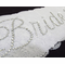 Lace Bride Sash Personalized with Crystals
