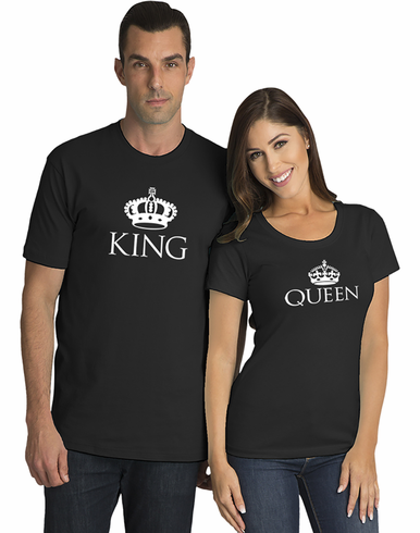 Matching Couples King & Queen T-Shirt Set